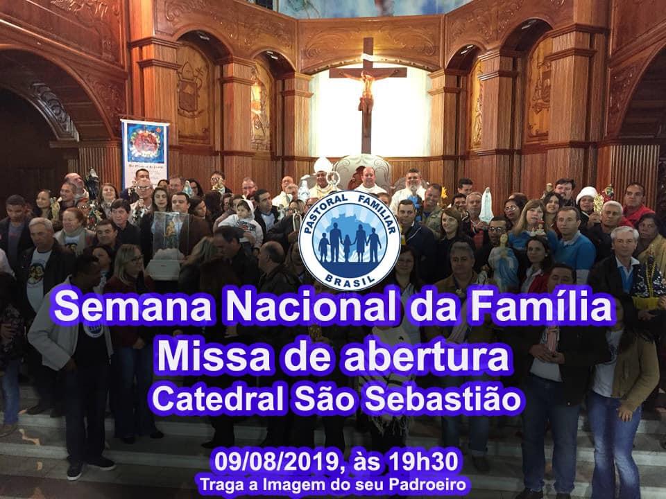 Missa de abertura da Semana Nacional da Família