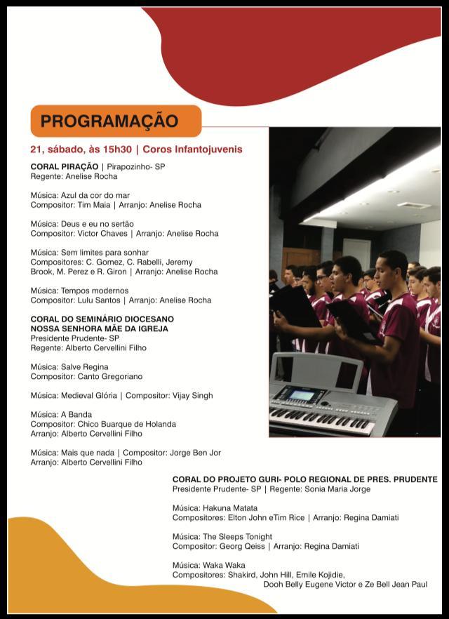 Apresentação Musical – Coral dos Seminaristas
