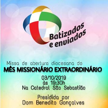Missa de abertura do Mês Missionário Extraordinário
